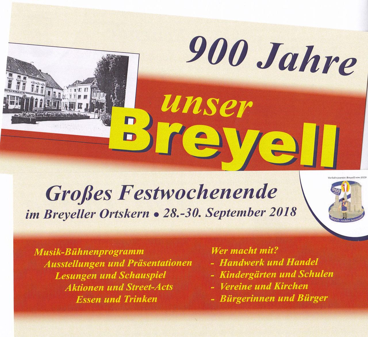 900 Jahre - unser Breyell